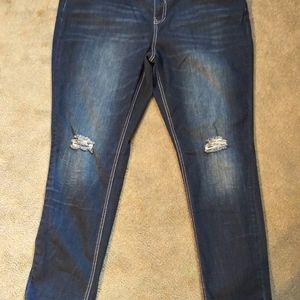 Hydraulic plus super skinny jeans